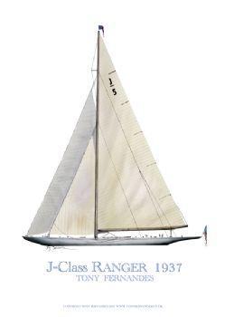 1937 Ranger - signed print